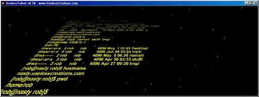 www.UselessCreations.com - UselessTelnet (AKA Star Wars Telnet)
