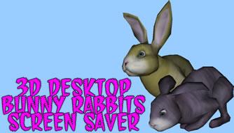 3D Desktop Bunny Rabbits Easter Screensaver