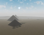 Virtual Pyramids of Egypt Giza GReat Pyramid Cheops Khufu Khafre Screen saver