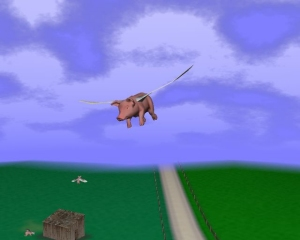3D Flying Pigs Screensaver