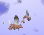 When Pigs Fly! 3D Screen saver