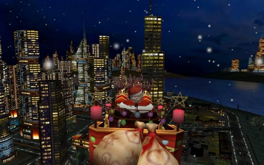 uselesscreationscom santa and the city 3d christmas screen saver for mac os x