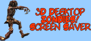 3D Desktop Zombies! Halloween Screensaver
